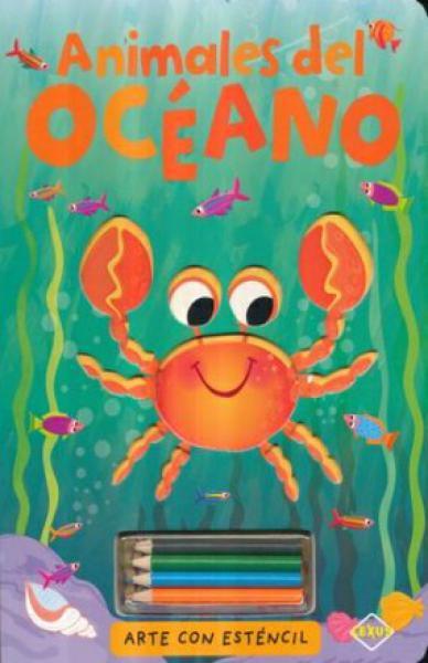 ANIMALES DEL OCEANO ARTE CON ESTENCIL