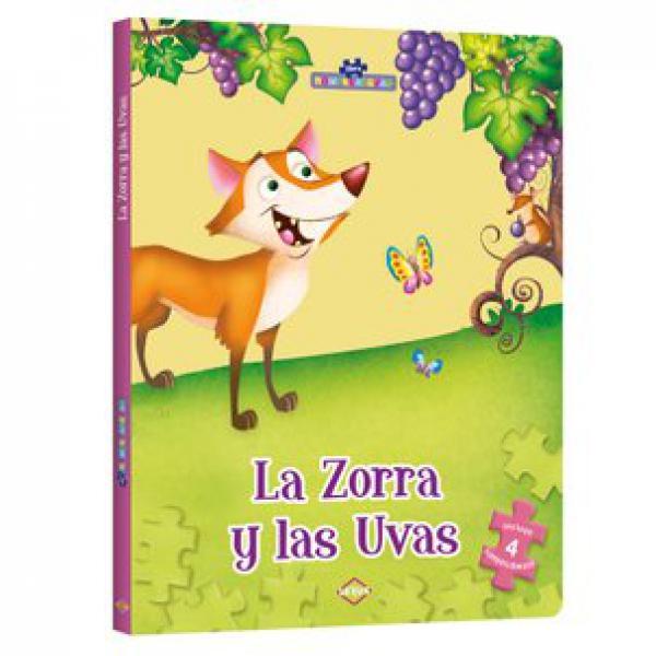 ZORRA Y LAS UVAS (4 ROMPECABEZAS)