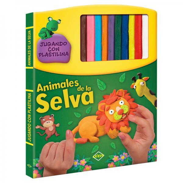 ANIMALES DE LA SELVA - JUGANDO CON PLAST